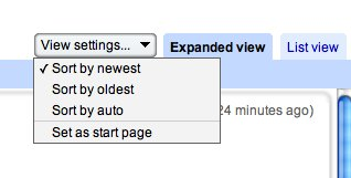 Google reader scanning options.
