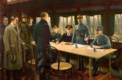 signing of the Armistice November 11, 1918.