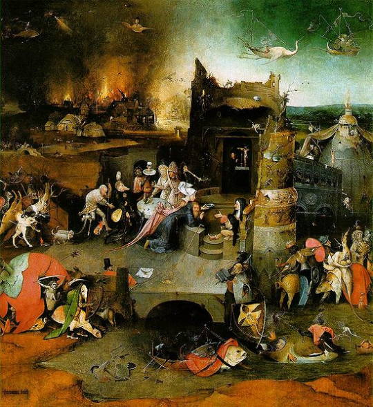 The Temptation of Saint Anthony :: Hieronymus Bosch