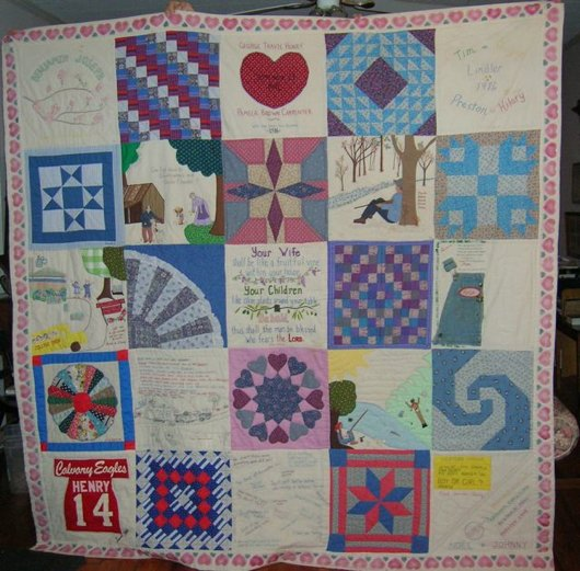 Quilt for Henry's 40th anniversary