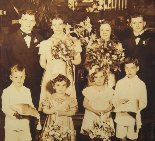 Bill and Ruth Piper's wedding